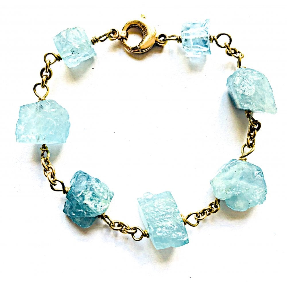 c61f788838747 Aquamarine 18ct gold bracelet