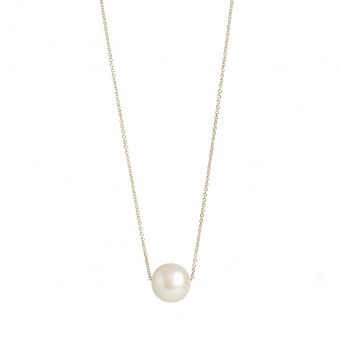 Fresh water pearl diameter 13mm on a 60cm 9ct gold chain