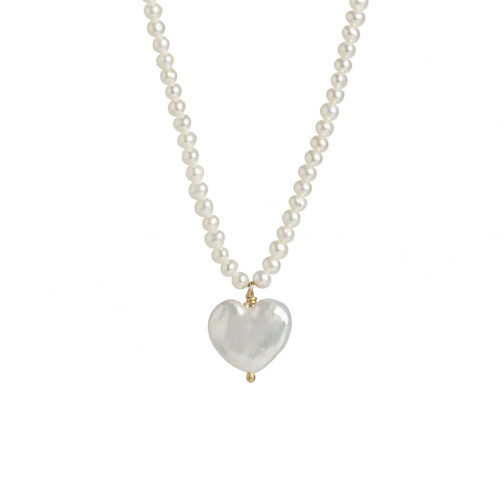 Cobra and bellamy fresh water heart shaped pearl necklace fresh water pearl heart on a 42cm pearl chain with 18ct gold clasp aloadofball Image collections