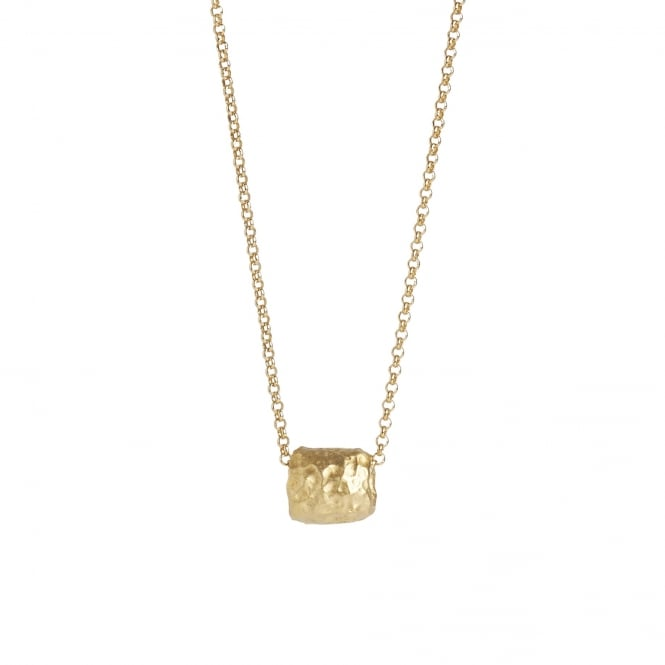 Small vermeil(18ct gold plated on silver) pendant on 50cm chain