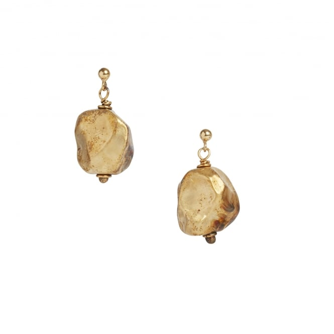 Vermeil 18ct gold on silver nugget earrings on a post and butterfly fitting