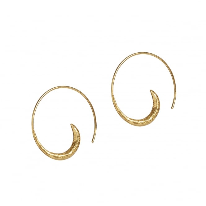 Vermeil (18ct gold plated on silver) hoop earrings. Width 28mm